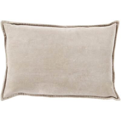 Carlisle 100% Cotton Lumbar Pillow Cover Size: 13 H x 19 W x 1 D, Color: Neutral