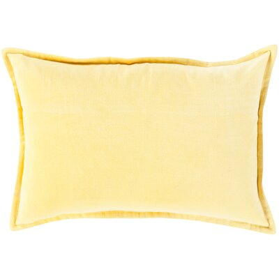 Carlisle 100% Cotton Lumbar Pillow Cover Size: 13 H x 19 W x 1 D, Color: Bright Yellow