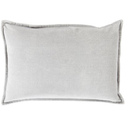 Carlisle 100% Cotton Lumbar Pillow Cover Size: 13 H x 20 W x 1 D, Color: Medium Gray