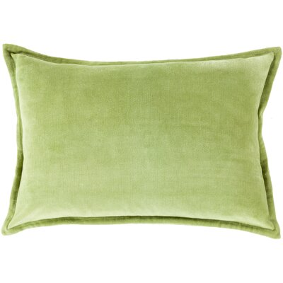 Jaycee Cotton Lumbar Pillow Color: Parrot Green