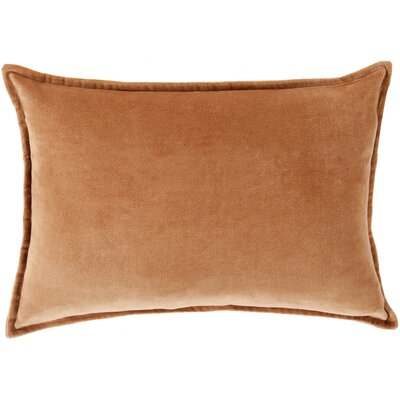 Jaycee Cotton Lumbar Pillow Color: Orange