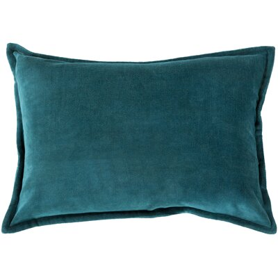 Jaycee Cotton Lumbar Pillow Color: Sea Green