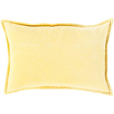 Jaycee Cotton Lumbar Pillow Color: Bright Yellow