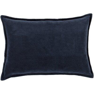 Jaycee Cotton Lumbar Pillow Color: Black