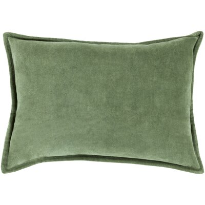 Jaycee Rectangular Cotton Lumbar Pillow Color: Green