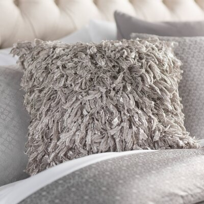 Bluffton Shimmer Indoor/Outdoor  Throw Pillow Color: Gray