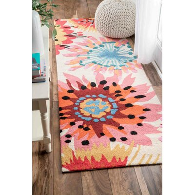 Esher Hand-Tufted Pink Area Rug Rug Size: Runner 26 x 8