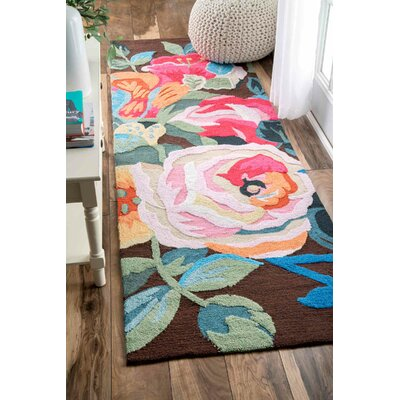 Esher Handmade Pink/Brown Area Rug Rug Size: Runner 2'6