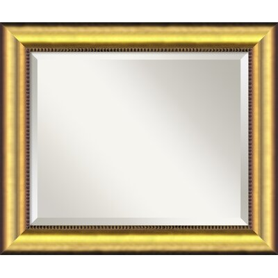 Finty Burnished Wood Wall Mirror Size: Large