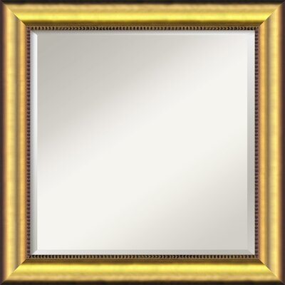 Finty Square Gold Wall Mirror