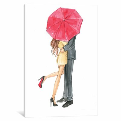 Love is in the Air Painting Print on Wrapped Canvas Size: 12