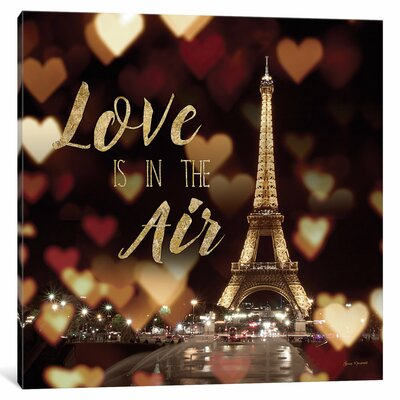 Love Is in the Air Textual Art on Wrapped Canvas Size: 12