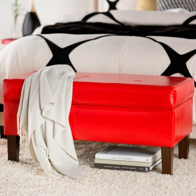 Upholstered Storage Bench Finish: Red