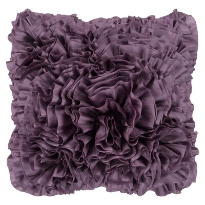 Clover Throw Pillow Color: Medium Gray