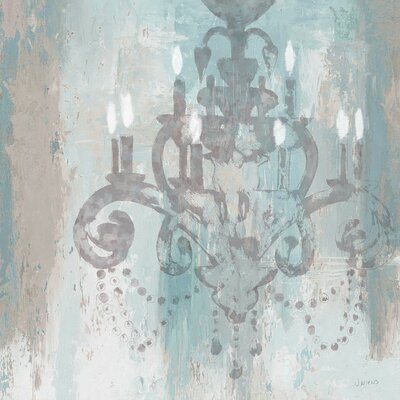 Candelabra II Graphic Art on Wrapped Canvas in Teal Size: 12