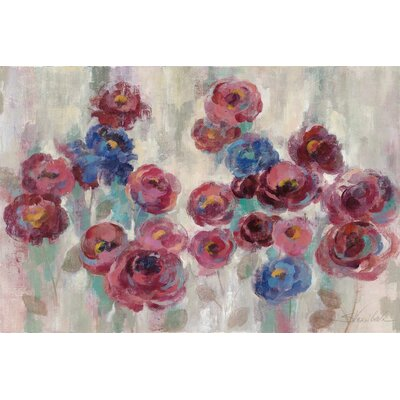 Frosted Marsala Florals Painting Print on Wrapped Canvas Size: 12