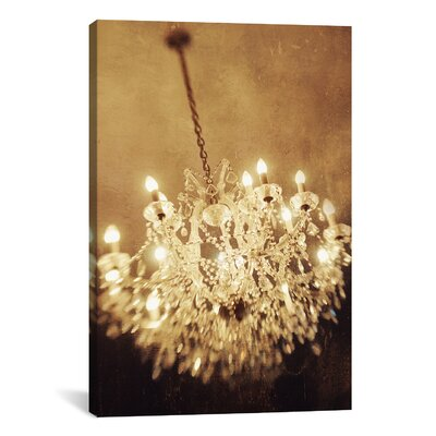 The Chandelier Photographic Print on Wrapped Canvas Size: 40