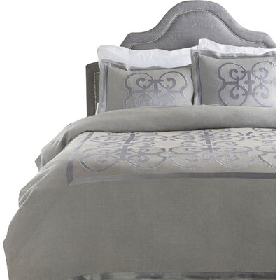 Shetler Duvet Set Size: Twin, Color: Gray