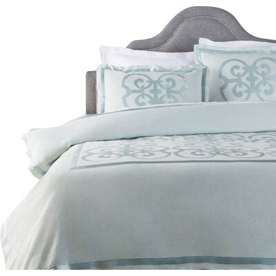 Shetler Duvet Set Color: Blue, Size: King
