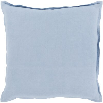 Strathmore Pillow Cover Size: 22 H x 22 W x 1 D, Color: Blue