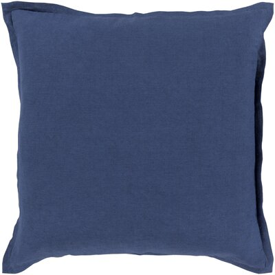 Strathmore Pillow Cover Size: 22 H x 22 W x 1 D, Color: Dark Blue