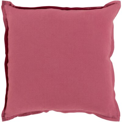 Strathmore Pillow Cover Size: 22 H x 22 W x 1 D, Color: Red