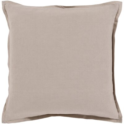 Windsor Throw Pillow Cover Size: 22 H x 22 W x 1 D, Color: Dark Taupe