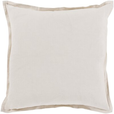 Windsor Throw Pillow Cover Size: 22 H x 22 W x 1 D, Color: Ivory