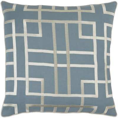 Barcroft Linen Throw Pillow Cover Size: 18 H x 18 W x 0.25 D, Color: BlueNeutral