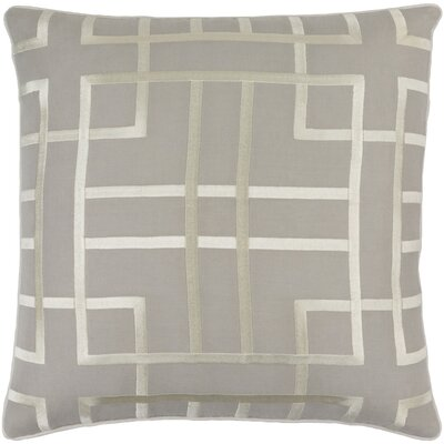 Barcroft Linen Throw Pillow Cover Size: 18 H x 18 W x 0.25 D, Color: GrayNeutral