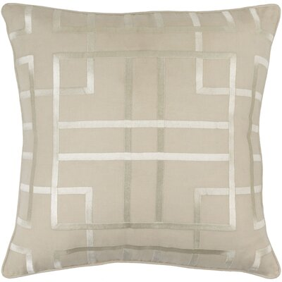 Barcroft Linen Throw Pillow Cover Size: 22 H x 22 W x 1 D, Color: Neutral