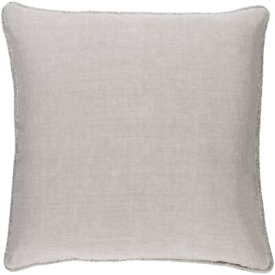Ruth 100% Linen Throw Pillow Cover Color: Gray, Size: 22 H x 22 W x 0.25 D