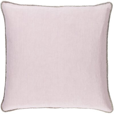 Sera 100% Linen Throw Pillow Cover Size: 18 H x 18 W x 0.25 D, Color: Purple