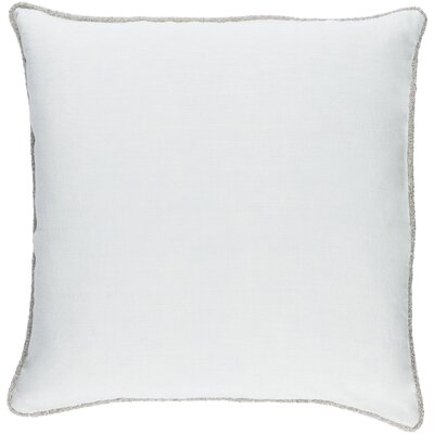 Sera 100% Linen Throw Pillow Cover Size: 18 H x 18 W x 0.25 D, Color: Ice Blue