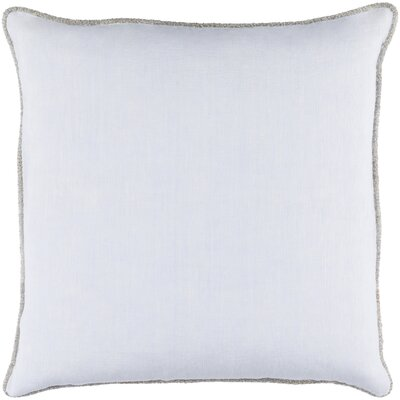 Sera 100% Linen Throw Pillow Cover Size: 18 H x 18 W x 0.25 D, Color: Pale Blue