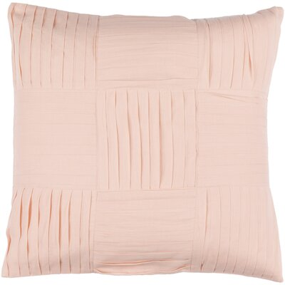 Holden 100% Cotton Throw Pillow Cover Size: 18 H x 18 W x 0.25 D, Color: Pink