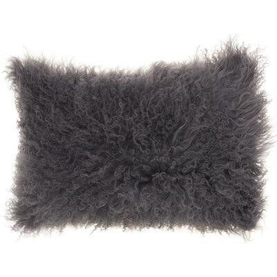 Dursley Fur Lumbar Pillow Color: Silver/Gray