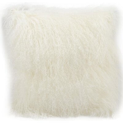Burkett Fur Lumbar Pillow Color: White