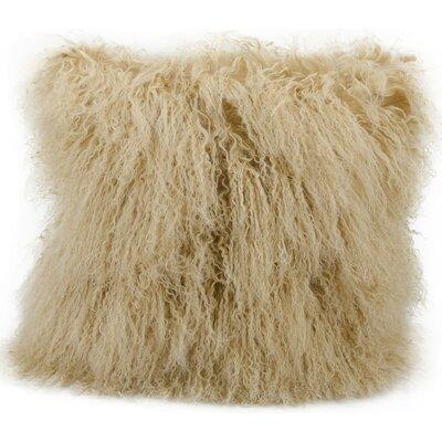 Dursley Fur Lumbar Pillow Color: Beige