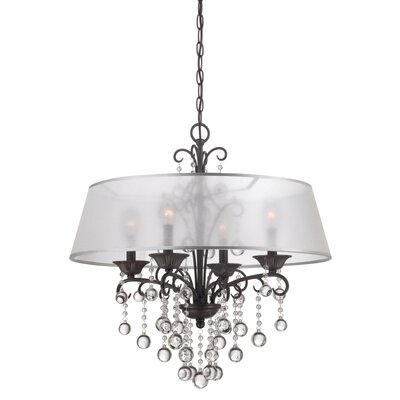 Knottingley 4-Light Shaded Chandelier