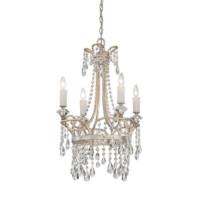 Spade 4-Light Crystal Chandelier