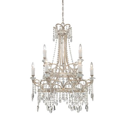 Spade 9-Light Crystal Chandelier