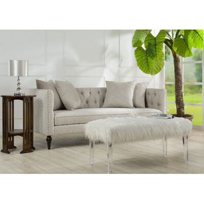 Jackson Chesterfield Sofa Color: Oyster Grey