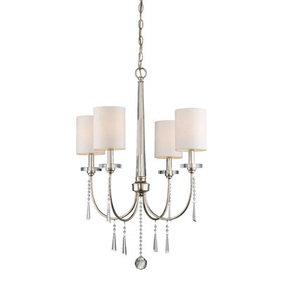 Wechsler 4-Light Shaded Chandelier