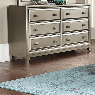 Bromford 6 Drawer Double Dresser with Mirror