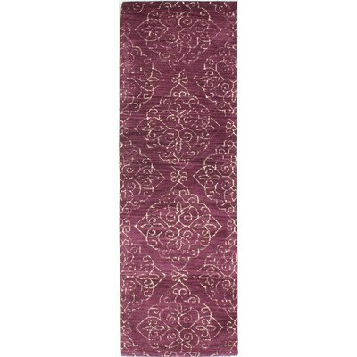 Chaudeville Hand-Tufted Lilac Area Rug Rug Size: Runner 26 x 8