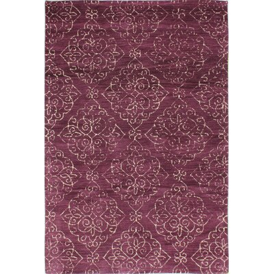 Chaudeville Hand-Tufted Lilac Area Rug Rug Size: Rectangle 36 x 56