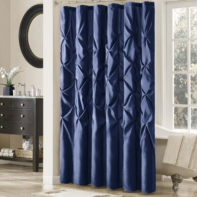 Benjamin Contemporary Shower Curtain Color: Navy