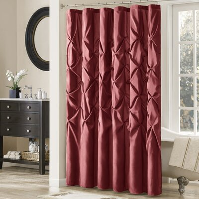 Benjamin Contemporary Shower Curtain Color: Red