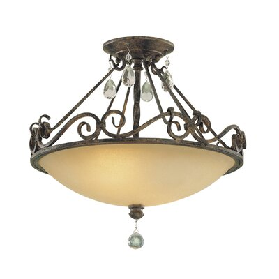 Esse 2-Light Semi Flush Mount Finish: Mocha Bronze, Bulb Type: Self Ballasted CFL GU24 13W